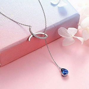 NEW S925 Lariet Teardrop Christian Fish  Necklace